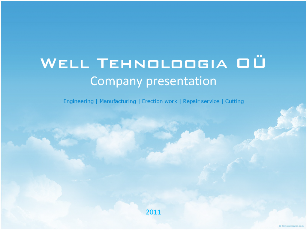 "Organization of production of metal OU ""WELL TECHNOLOGIA"""