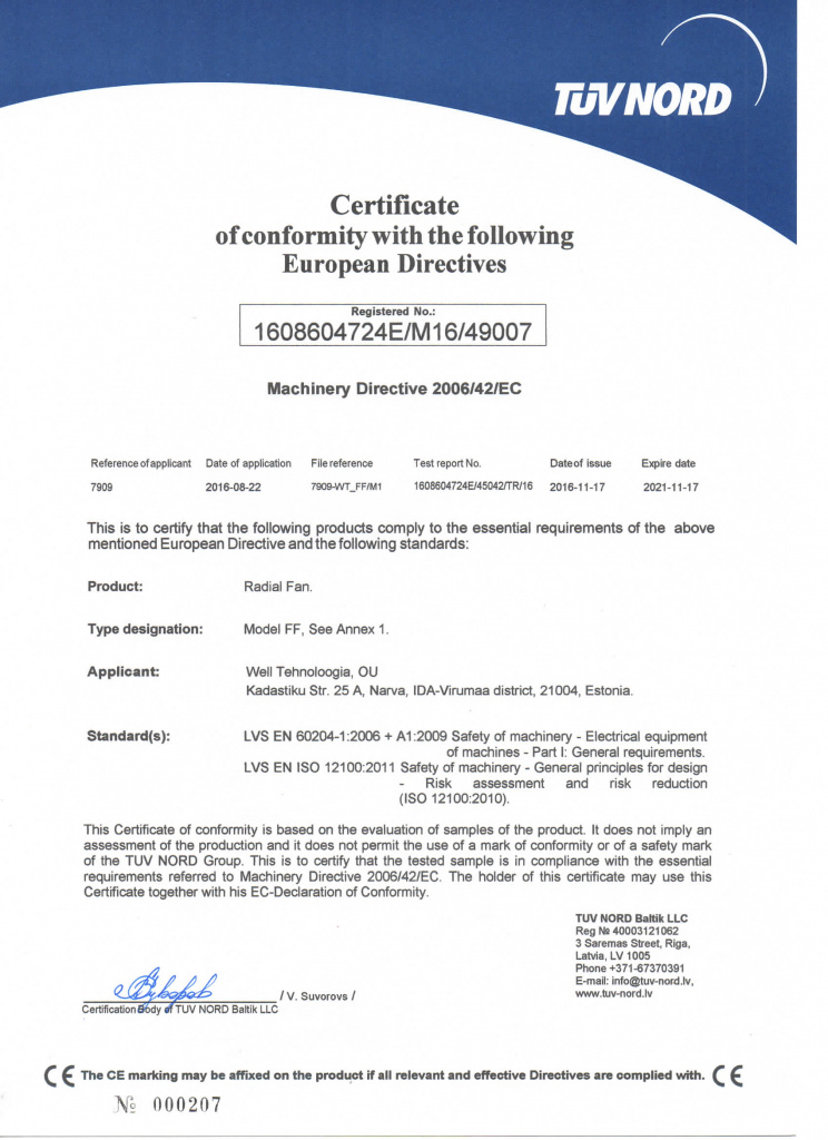 Certification of production processes